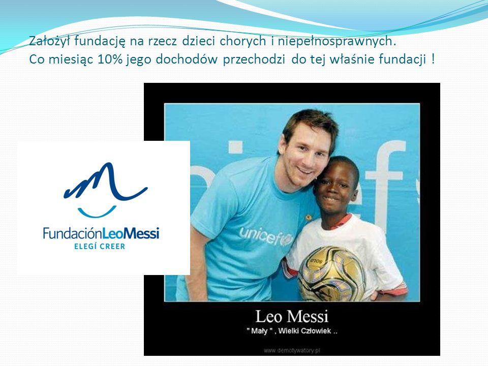 Założył fundację na rzecz dzieci chorych i niepełnosprawnych