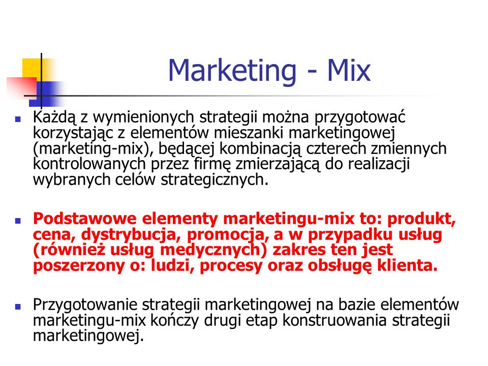 Marketing - Mix