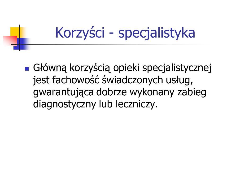 Korzyści - specjalistyka