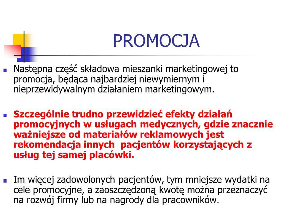 PROMOCJA Następna część składowa mieszanki marketingowej to promocja, będąca najbardziej niewymiernym i nieprzewidywalnym działaniem marketingowym.