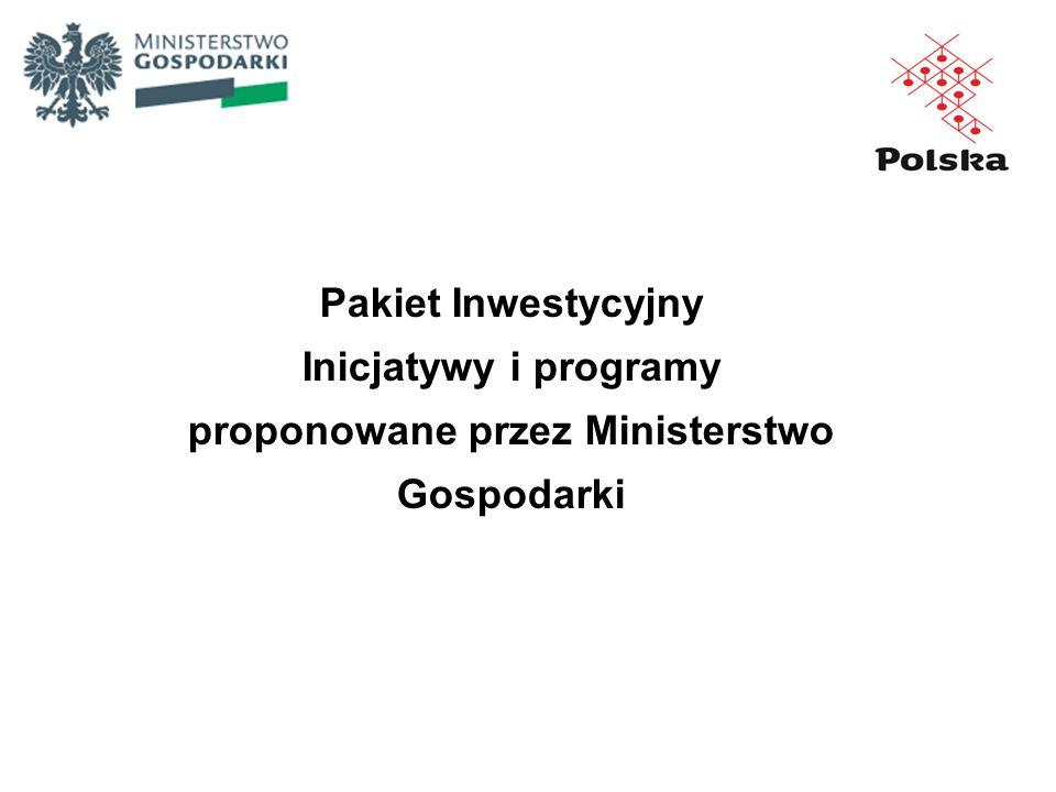 proponowane przez Ministerstwo Gospodarki