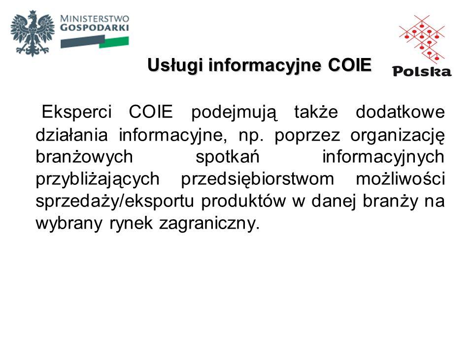 Usługi informacyjne COIE