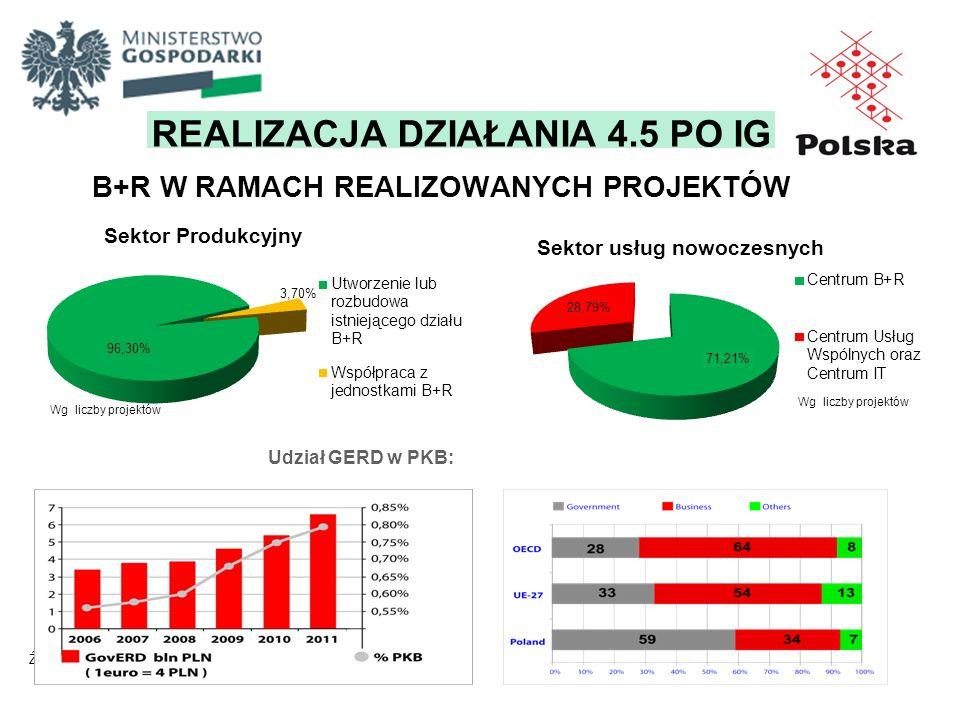 B+R W RAMACH REALIZOWANYCH PROJEKTÓW Sektor Produkcyjny