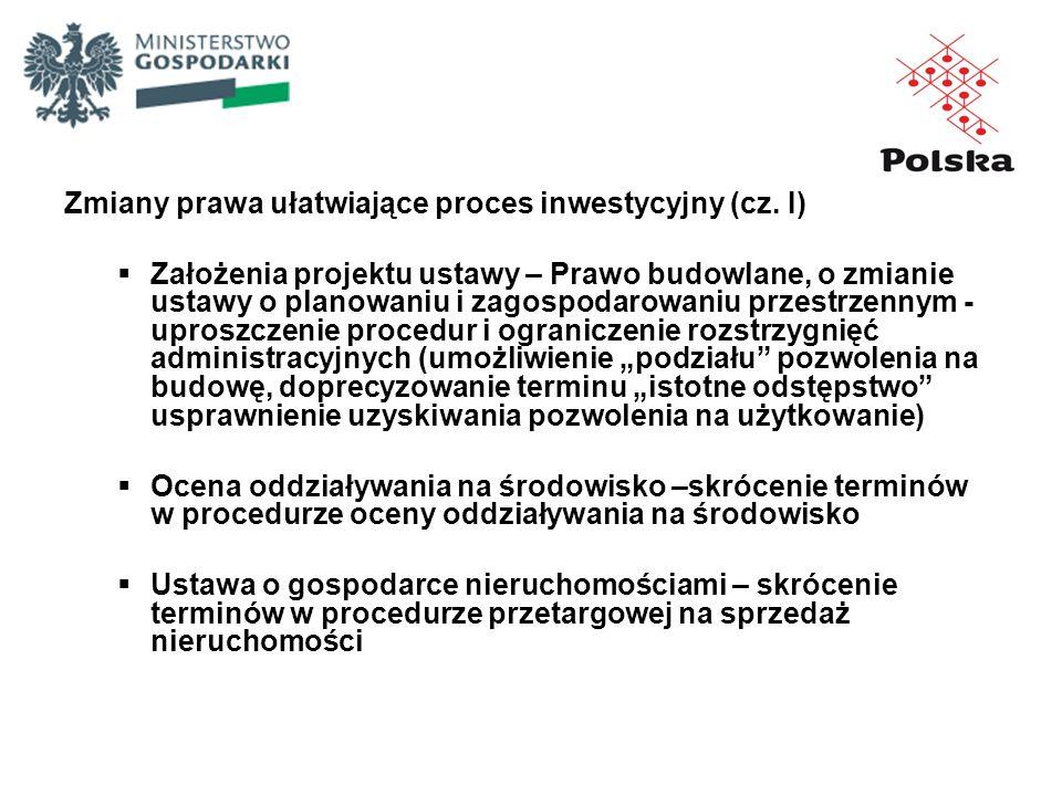Zmiany prawa ułatwiające proces inwestycyjny (cz. I)