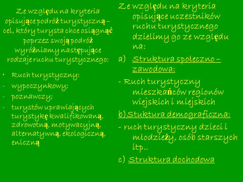Struktura społeczno – zawodowa: