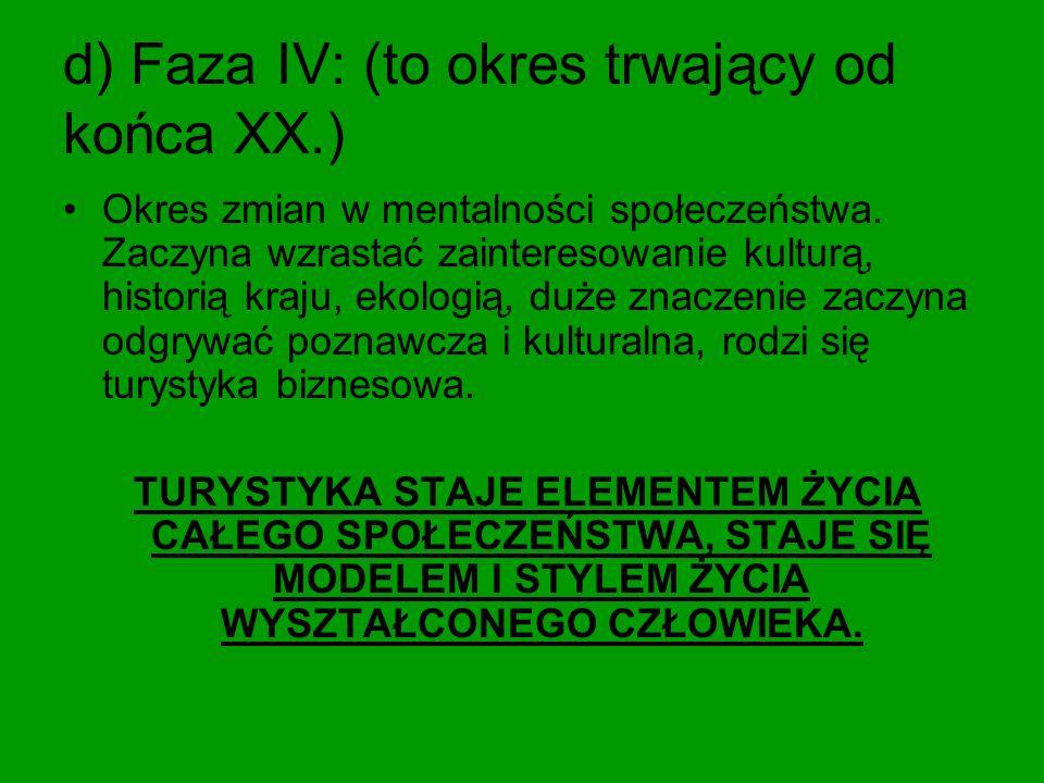 d) Faza IV: (to okres trwający od końca XX.)
