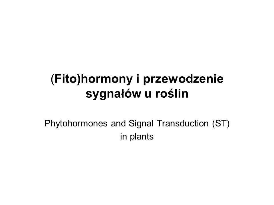 (Fito)hormony i przewodzenie sygnałów u roślin
