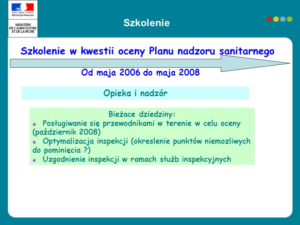 Szkolenie w kwestii oceny Planu nadzoru sanitarnego
