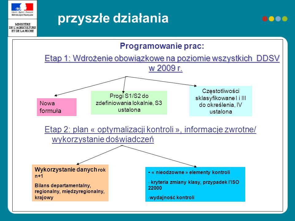 przyszłe działania Programowanie prac: