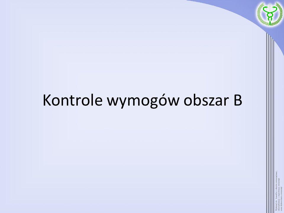 Kontrole wymogów obszar B