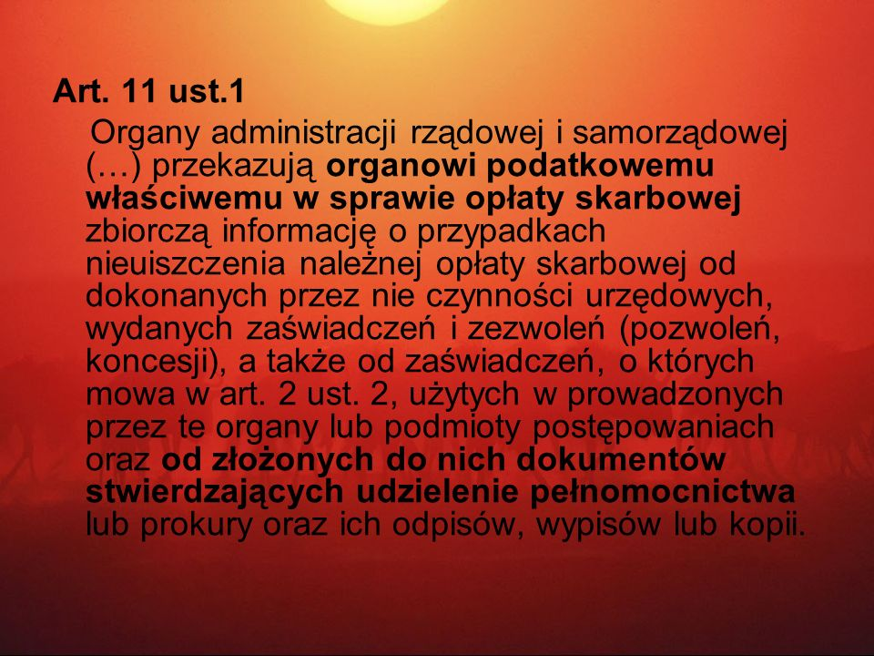Art. 11 ust.1