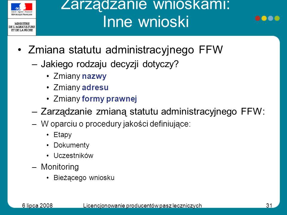 Zarządzanie wnioskami: Inne wnioski