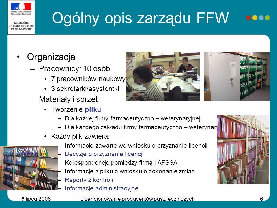 Ogólny opis zarządu FFW