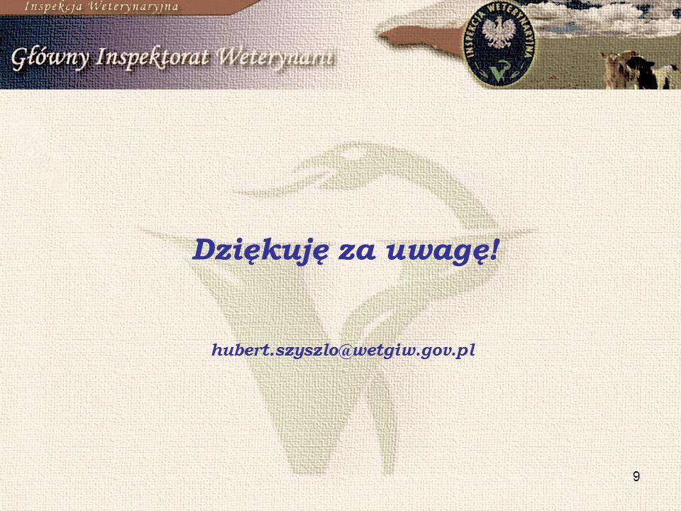 Dziękuję za uwagę! hubert.szyszlo@wetgiw.gov.pl
