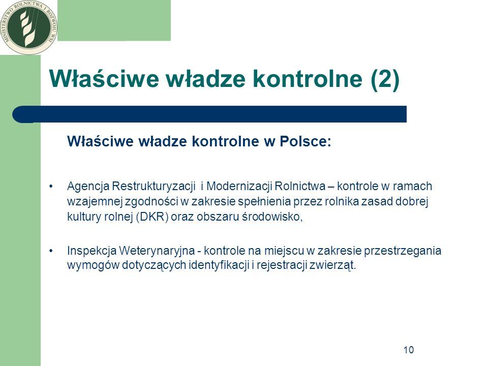 Właściwe władze kontrolne (2)