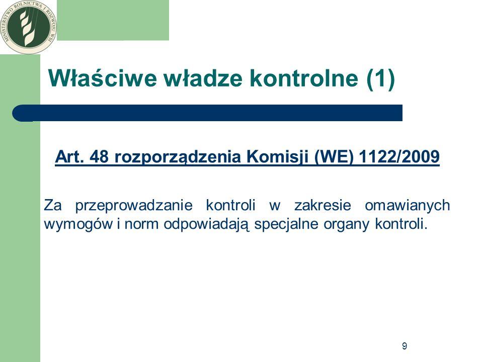 Właściwe władze kontrolne (1)