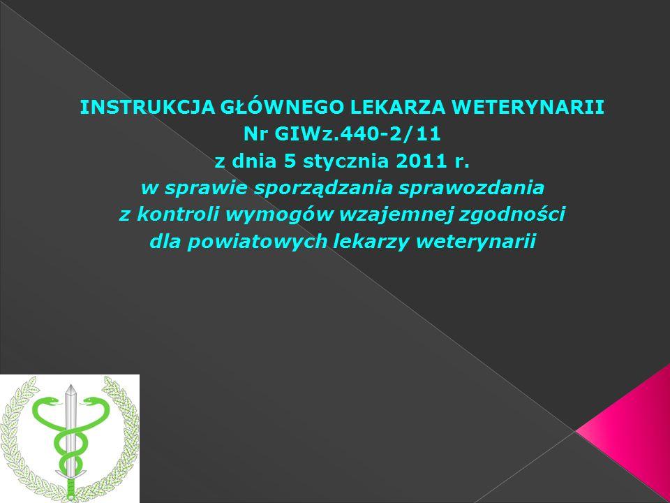 INSTRUKCJA GŁÓWNEGO LEKARZA WETERYNARII Nr GIWz.440-2/11