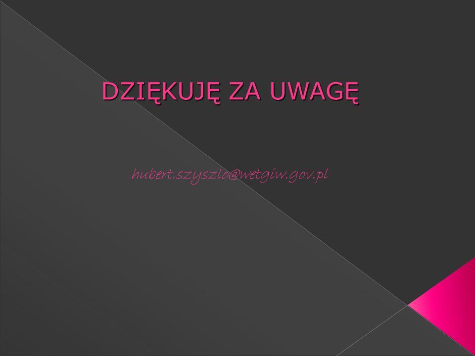 DZIĘKUJĘ ZA UWAGĘ hubert.szyszlo@wetgiw.gov.pl