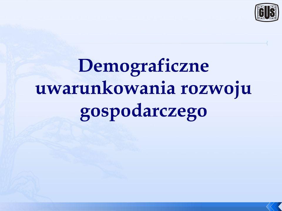 Demograficzne uwarunkowania rozwoju gospodarczego