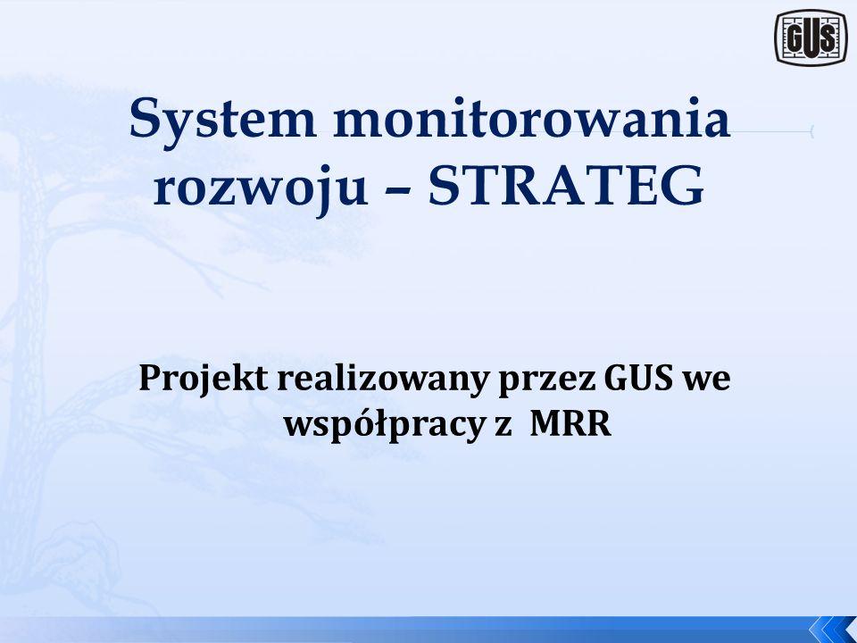 System monitorowania rozwoju – STRATEG