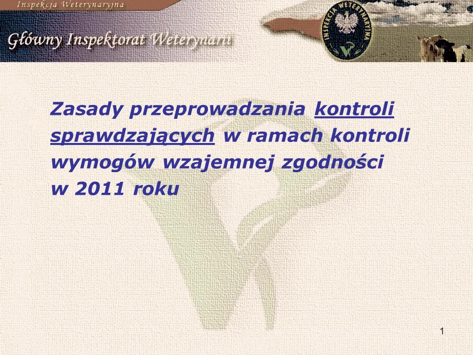 Zasady przeprowadzania kontroli sprawdzających w ramach kontroli wymogów wzajemnej zgodności w 2011 roku