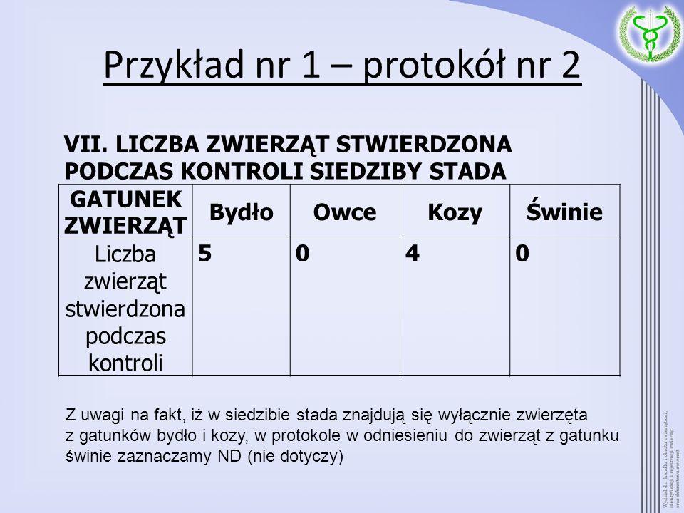 Przykład nr 1 – protokół nr 2