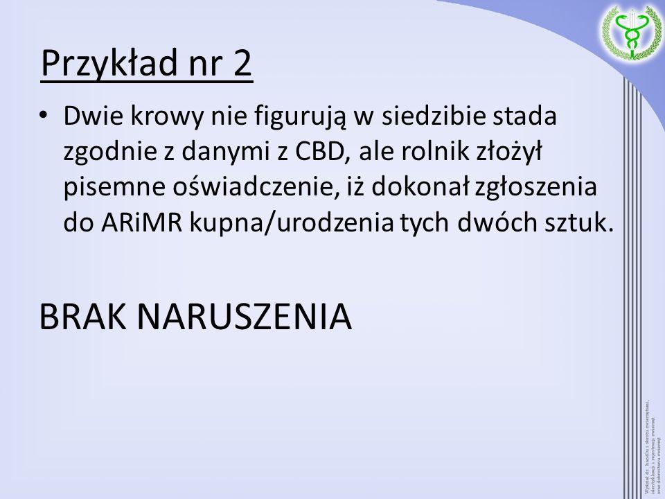Przykład nr 2 BRAK NARUSZENIA