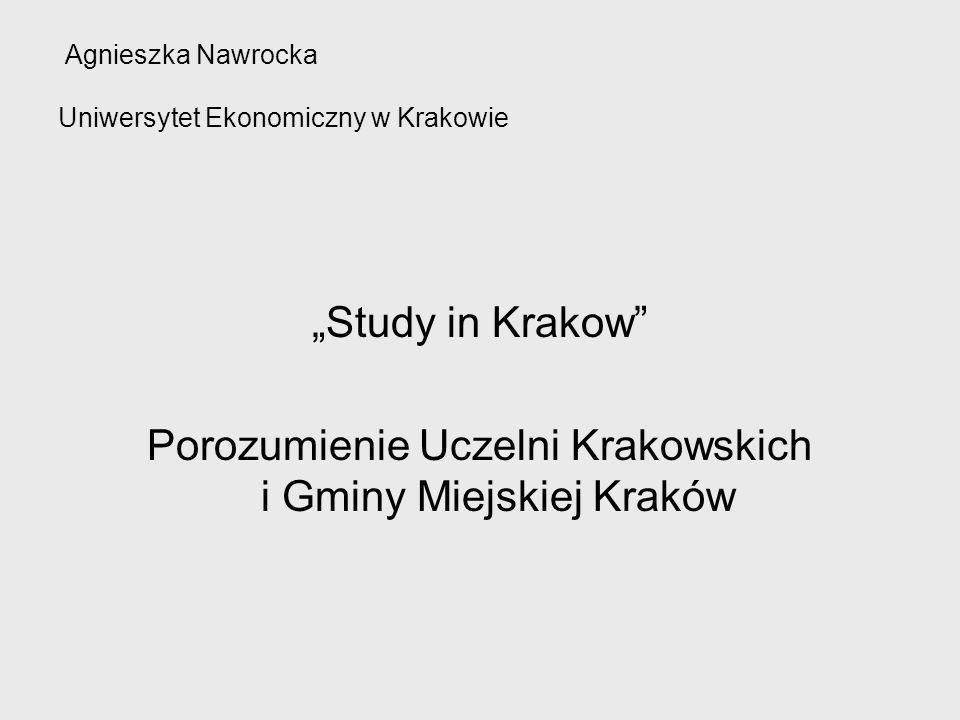 Agnieszka Nawrocka Uniwersytet Ekonomiczny w Krakowie