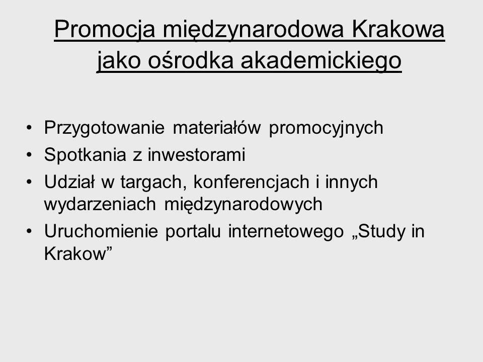 Promocja międzynarodowa Krakowa jako ośrodka akademickiego