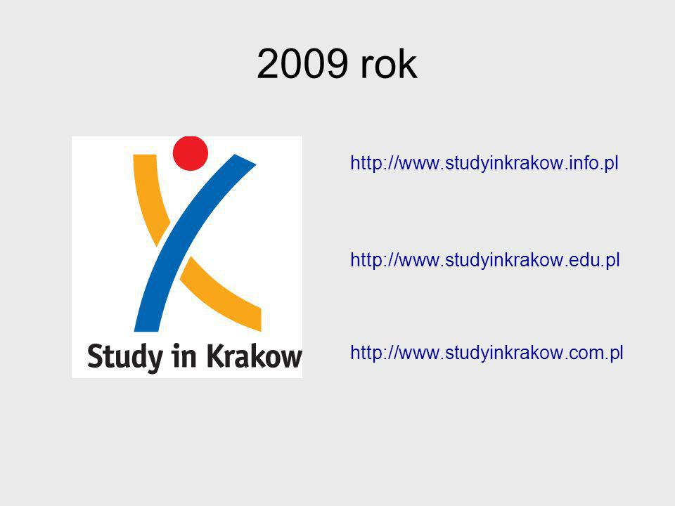 2009 rok http://www.studyinkrakow.info.pl