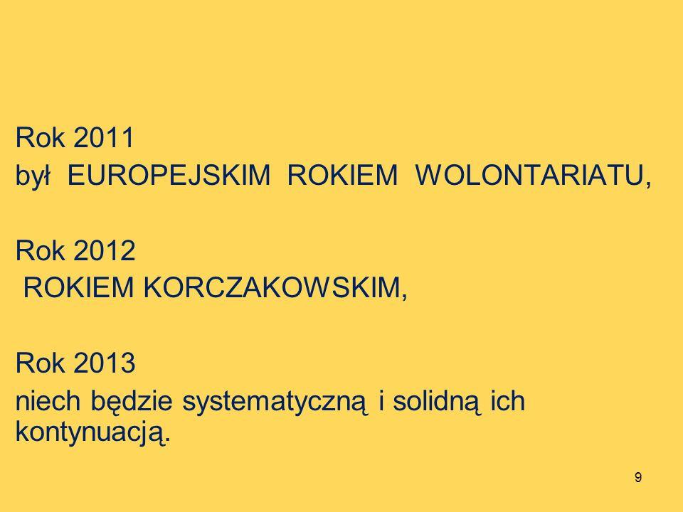 Rok 2011 był EUROPEJSKIM ROKIEM WOLONTARIATU, Rok 2012.