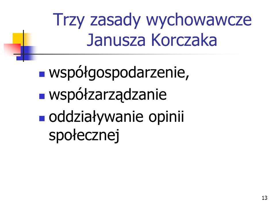 Trzy zasady wychowawcze Janusza Korczaka