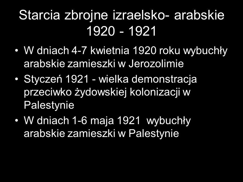 Starcia zbrojne izraelsko- arabskie 1920 - 1921