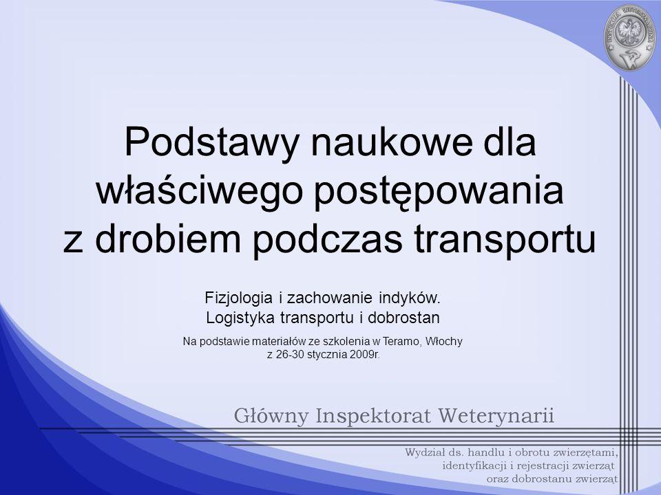 Fizjologia i zachowanie indyków. Logistyka transportu i dobrostan