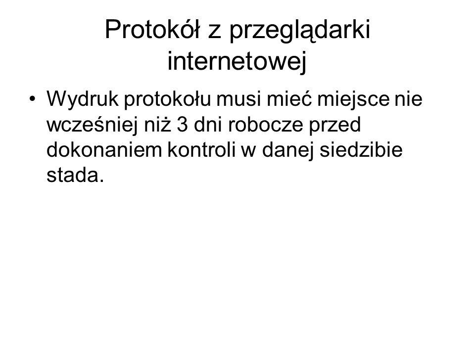 Protokół z przeglądarki internetowej