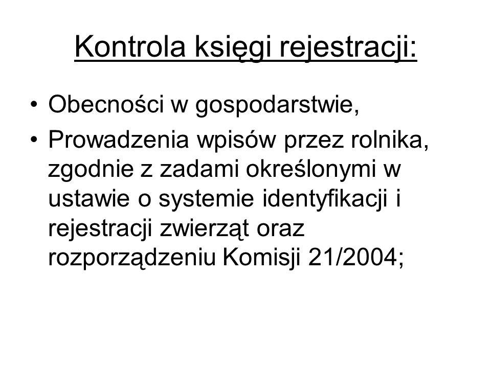 Kontrola księgi rejestracji: