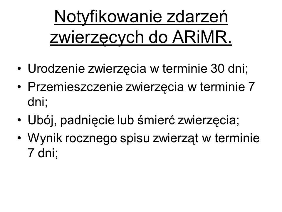 Notyfikowanie zdarzeń zwierzęcych do ARiMR.