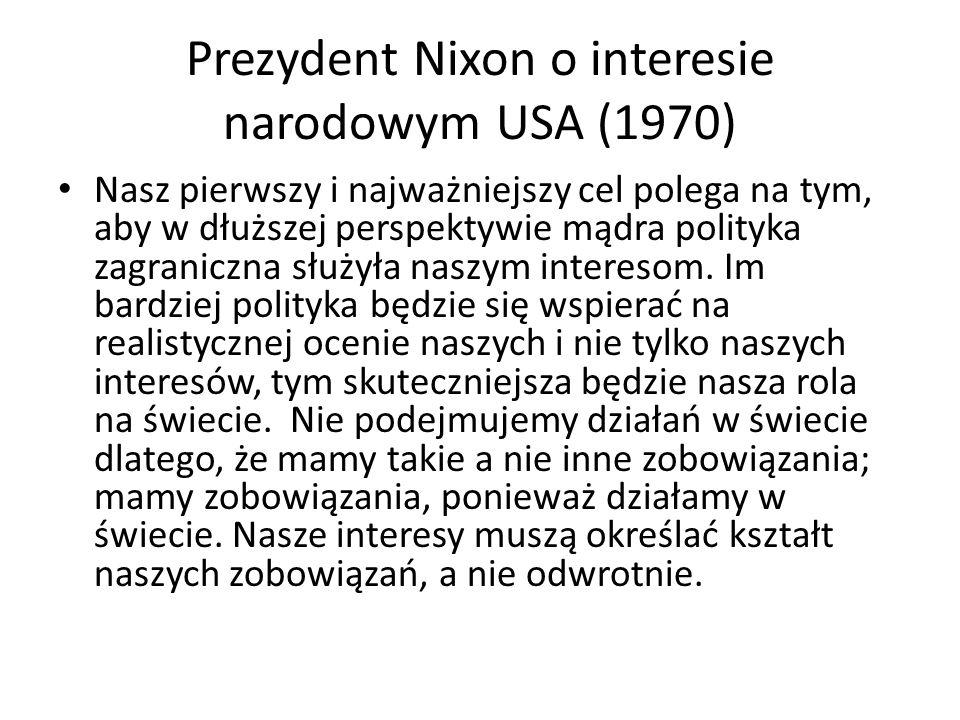 Prezydent Nixon o interesie narodowym USA (1970)