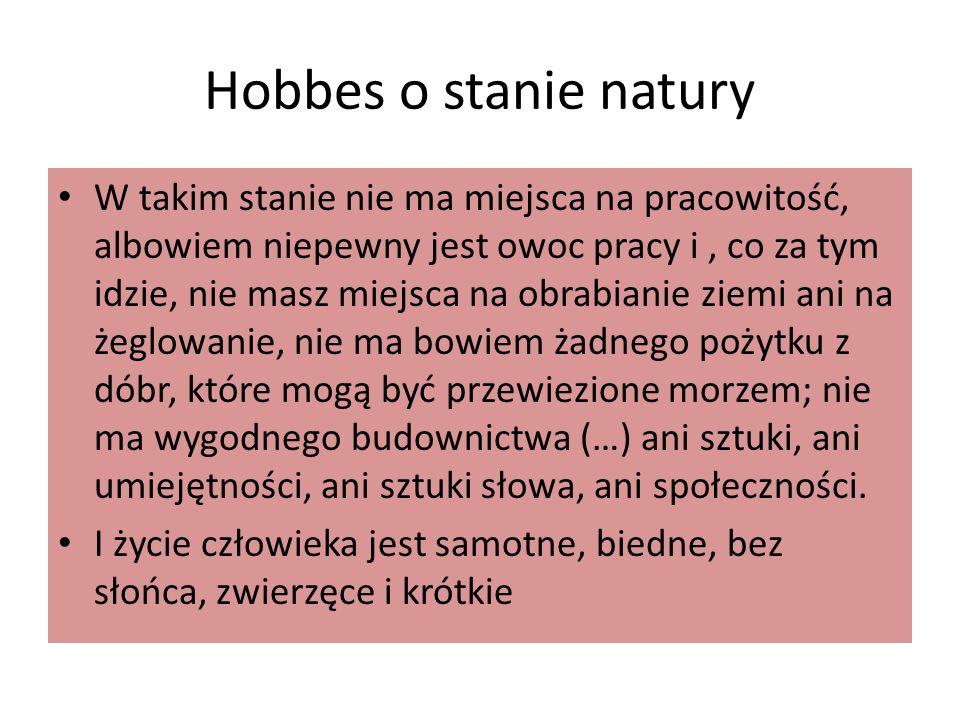 Hobbes o stanie natury