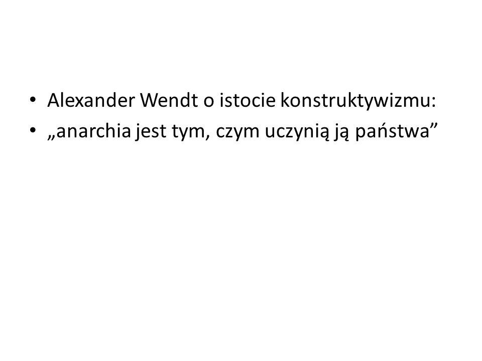 Alexander Wendt o istocie konstruktywizmu: