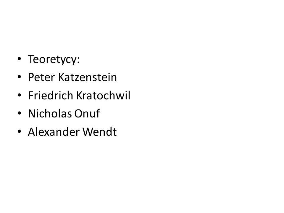 Teoretycy: Peter Katzenstein Friedrich Kratochwil Nicholas Onuf Alexander Wendt