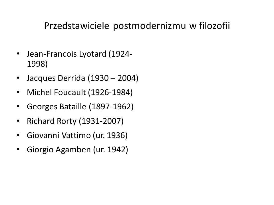 Przedstawiciele postmodernizmu w filozofii