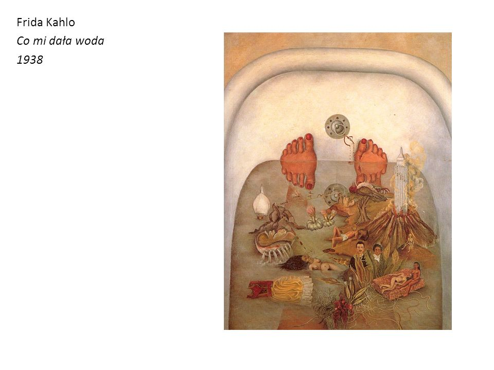 Frida Kahlo Co mi dała woda 1938