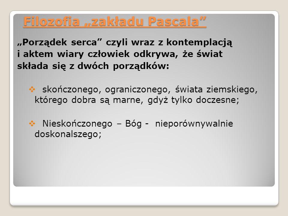"""Filozofia """"zakładu Pascala"""