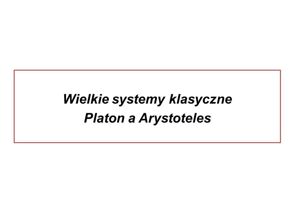 Wielkie systemy klasyczne Platon a Arystoteles