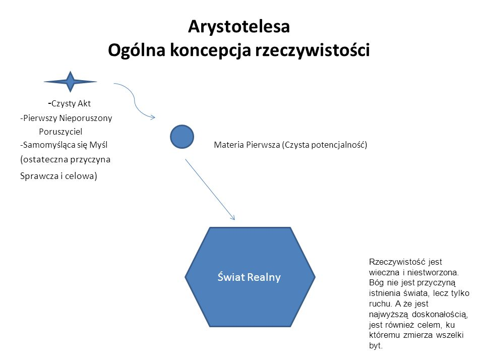 Arystotelesa Ogólna koncepcja rzeczywistości