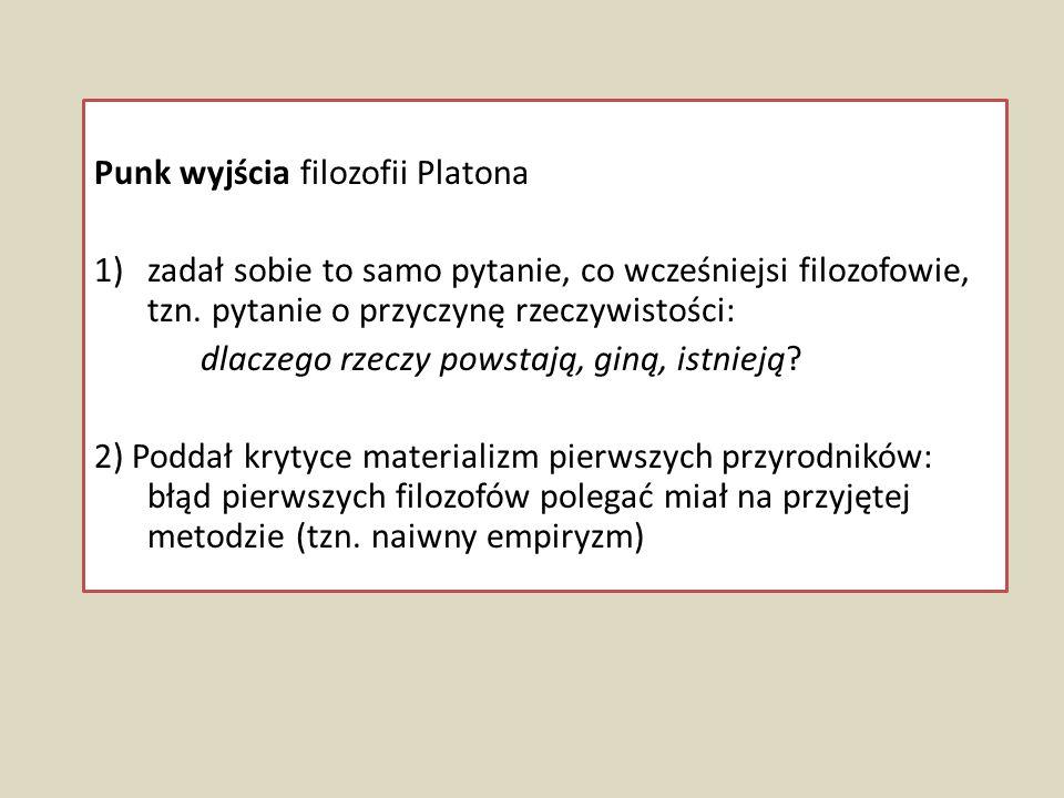 Punk wyjścia filozofii Platona