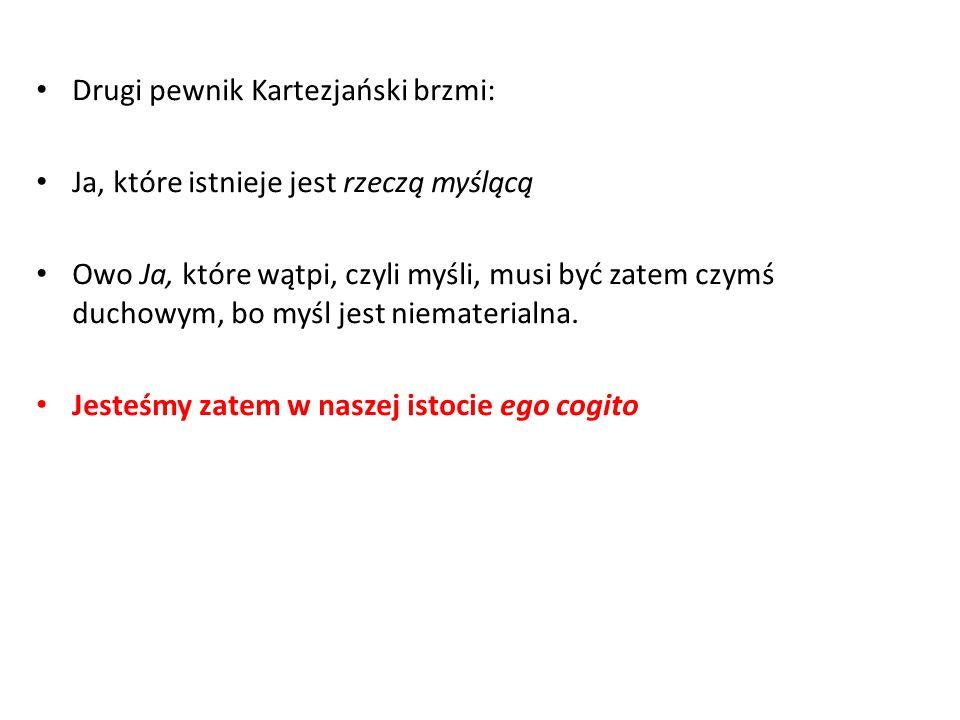 Drugi pewnik Kartezjański brzmi: