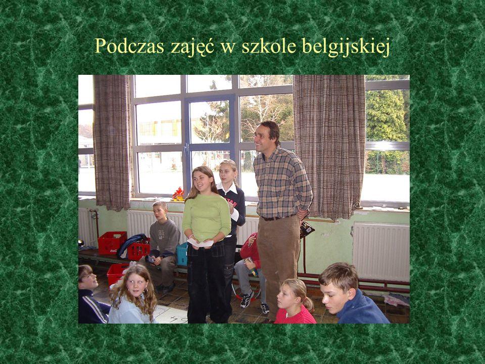Podczas zajęć w szkole belgijskiej