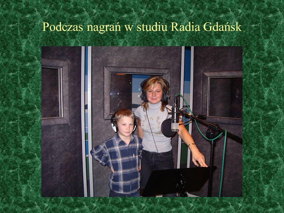 Podczas nagrań w studiu Radia Gdańsk
